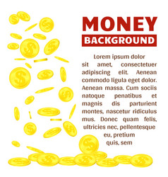flying gold coins isolated on white background vector image