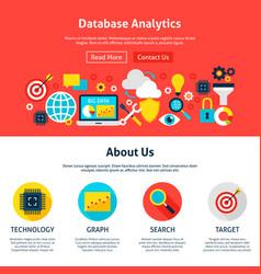 Database analytics website design vector