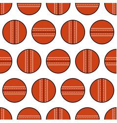 Cricket ball seamless pattern sports equipment vector
