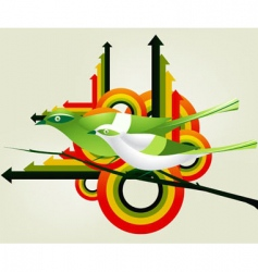Geometric birds vector