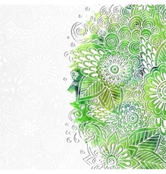 Doodle 3d white paper pattern with circle shape vector