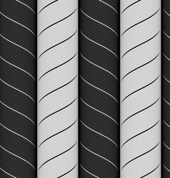 Ribbons black and gray chevron pattern vector