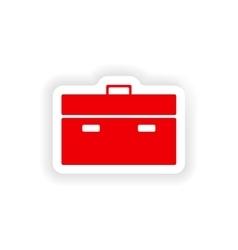 Icon sticker realistic design on paper briefcase vector