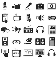 Media icons technology vector