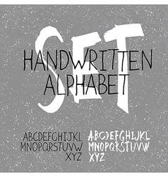 Alphabet set handwritten vector