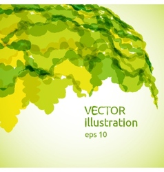 Abstract background of yellow and green spots vector