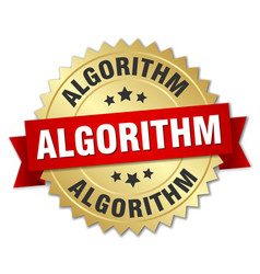 Algorithm round isolated gold badge vector