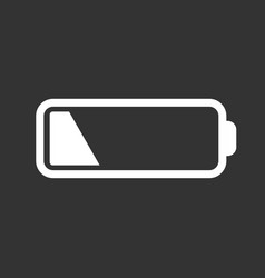 Battery level indicator on black background vector