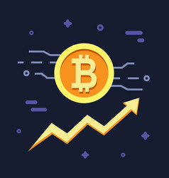 bitcoin growth concept crypto currency vector image