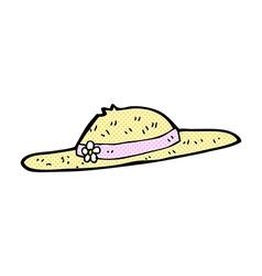 comic cartoon summer hat vector image