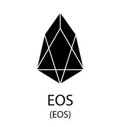 Eos cryptocurrency symbol vector