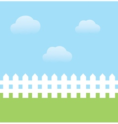 Fence white vector