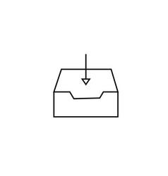 inbox arrow mail icon vector image