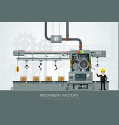 Industrial machine factory construction equipment vector