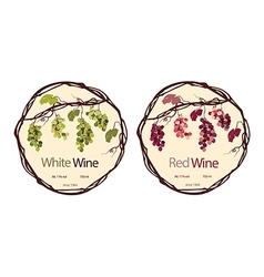 Label for red and white wine vector