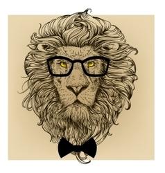 lion character portrait vector image vector image