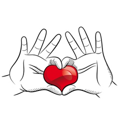 Love hands vector image vector image