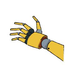 Mechanical robotic hand innovation technology vector