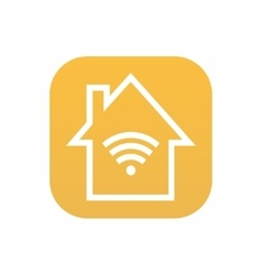 Modern smart house icon on white background vector