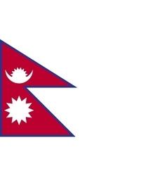 Nepal flag image vector image