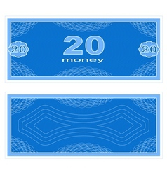 Play money Twenty vector image vector image