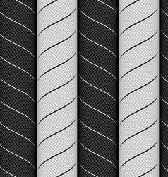 Ribbons black and gray chevron pattern vector image