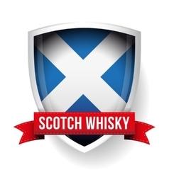 Scotch Whisky ribbon on Scotland flag vector image