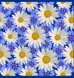 Seamless pattern flowers vector