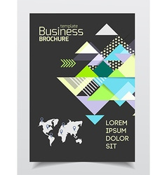 Startup presentation layout or business flyer vector