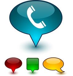 Telephone speech comic icons vector