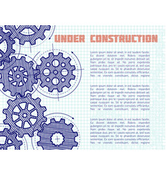 under construction background with hand vector image