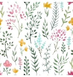 Watercolor floral pattern vector image vector image