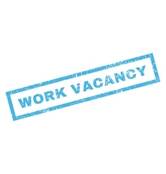 Work Vacancy Rubber Stamp vector image vector image