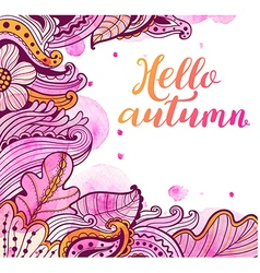 Abstract floral autumn background vector image
