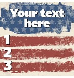 American flag vintage background vector image