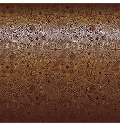 Hand draw ornate chocolate dark ornate floral back vector