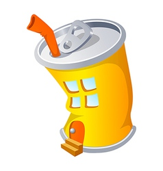 Icon can and house vector