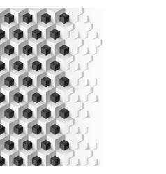 abstract background with cubes in black and white vector image