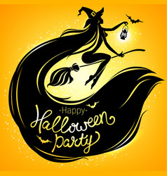 Happy halloween party bright poster vector