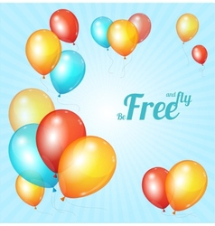 Color glossy multicolored balloons bsckground vector image