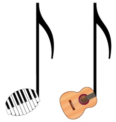 Funny music notes vector