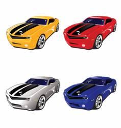 camaro muscle car vector image
