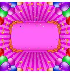 Balloons frame vector