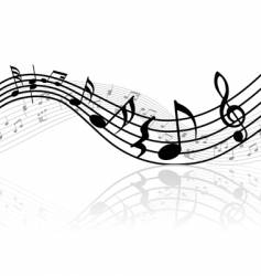 Musical notes background vector