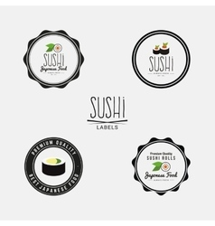 Sweet sushi labels vector