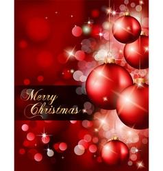 modern christmas card vector image