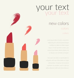 Lipstick swatches flat templates design vector