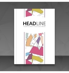 Cover report colorful triangle geometric lines vector