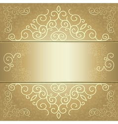 golden background card invitation or menu vector image