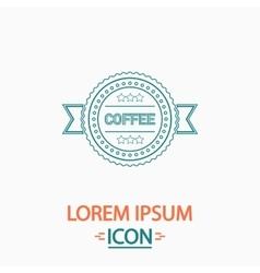 Coffee label computer symbol vector